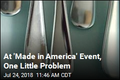 At 'Made in America' Event, One Little Problem