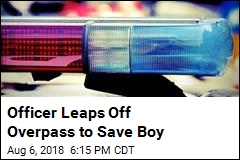 Officer Leaps Off Overpass to Save Boy