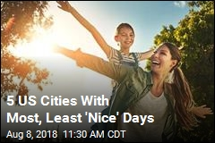 5 US Cities With Most, Least 'Nice' Days