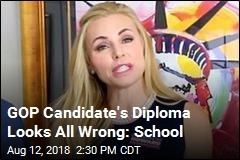 GOP Candidate's Diploma Doesn't Appear 'Accurate'