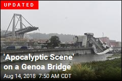 'Apocalyptic Scene' on a Genoa Bridge
