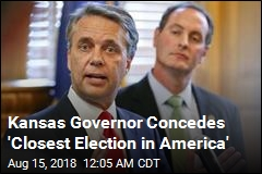Governor Concedes Tight Kansas Election