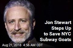 Jon Stewart Rescues Goats Found on Subway Tracks
