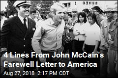 4 Lines From John McCain's Farewell Letter to America