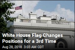 White House Flag Is Lowered a 2nd Time