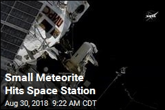 Small Meteorite Hits Space Station