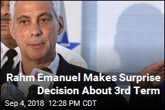 Rahm Emanuel Not Seeking Re-Election