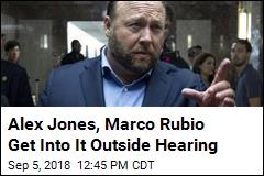 Alex Jones, Marco Rubio Get Into It Outside Hearing