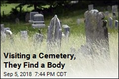 Visiting a Cemetery, They Find a Body