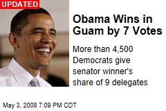 Obama Wins in Guam by 7 Votes