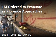 1M Ordered to Evacuate as Florence Approaches