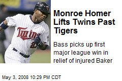 Monroe Homer Lifts Twins Past Tigers