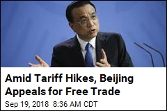 China's No. 2 Leader Appeals for Free Trade