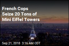 French Cops Seize 20 Tons of Mini Eiffel Towers