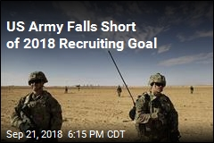 US Army Falls Short of 2018 Recruiting Goal