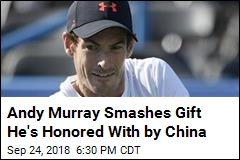Andy Murray Smashes Gift He's Honored With by China