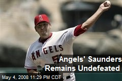 Angels' Saunders Remains Undefeated