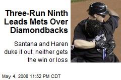 Three-Run Ninth Leads Mets Over Diamondbacks