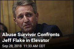 Abuse Survivor Confronts Jeff Flake in Elevator