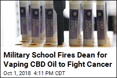 Military School Dean Fired for Vaping CBD Oil to Fight Cancer