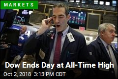 Dow Ends Day at All-Time High