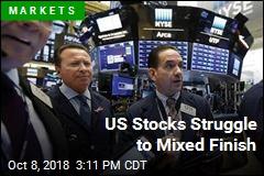 US Stocks Struggle to Mixed Finish