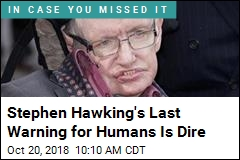 Hawking's Last Warning: Beware 'Superhumans'