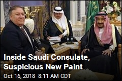 Inside Saudi Consulate, Suspicious New Paint
