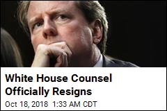 White House Counsel Officially Resigns