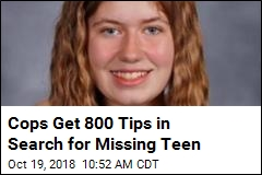 Cops Get 800 Tips in Search for Missing Teen