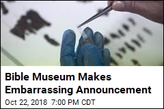 Bible Museum Makes Embarrassing Announcement