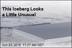 Fresh Iceberg Looks Strangely Rectangular