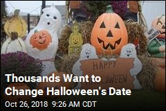 Thousands Want to Change Halloween's Date