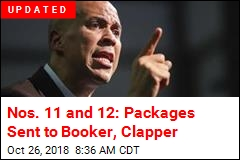 No. 11: Suspicious Package Sent to Cory Booker