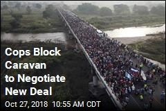 Cops Block Caravan to Negotiate New Deal