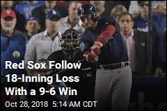 Red Sox Follow 18-Inning Loss With a 9-6 Win