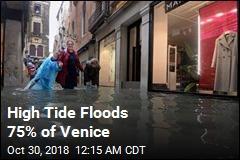 Venice Hit by Freak High Tide
