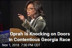 Oprah Is Going Door-to-Door in Contentious Georgia Race