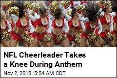 NFL First: This Time, Cheerleader Takes a Knee