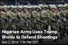 Nigerian Army Uses Trump Speech to Defend Actions