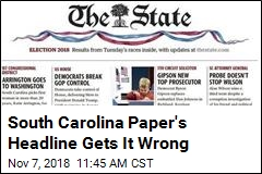 South Carolina Paper Declares Wrong Winner