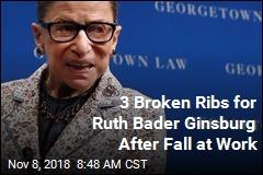 3 Broken Ribs for Ruth Bader Ginsburg After Fall at Work