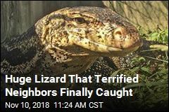 Officers Corner Huge Lizard That Terrified Neighbors