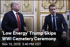 'Low Energy' Trump Skips WWI Cemetery Ceremony