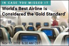 World's Best Airline Is Considered the 'Gold Standard'