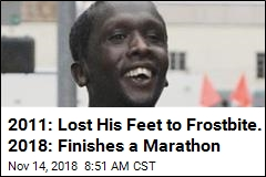 2011: Lost His Feet to Frostbite. 2018: Finishes a Marathon