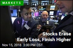 Stocks Erase Early Loss, Finish Higher