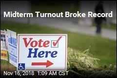 Midterm Turnout Broke Record