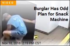 Burglar Has Odd Plan for Snack Machine