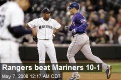 Rangers beat Mariners 10-1